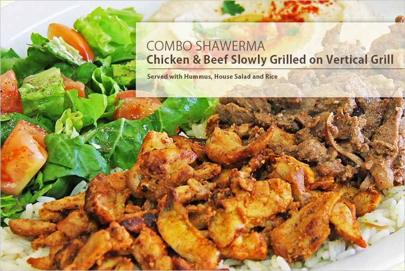 Chicken and Beef Combo Shawerma Plate